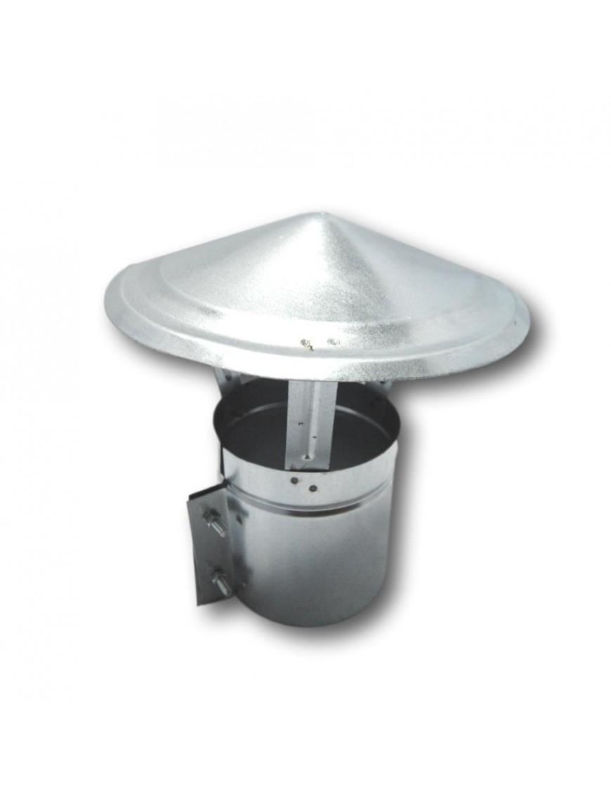 Sombrero Anti-Viento Pellets Inox Ø 80