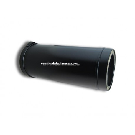 Tubo Doble Pellets Negro