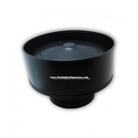 Sombrero Anti Viento Doble Negro