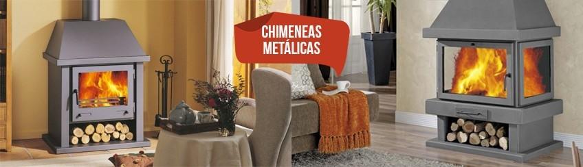 Chimeneas met licas de le a tienda de chimeneas for Chimeneas metalicas precios